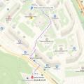 Проход пешком от метро Волоколамская (первый вагон)